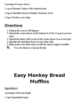 14 different SIMPLE recipes to make with students