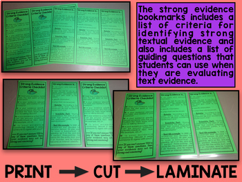 Strong Evidence Criteria and Checklist Bookmarks
