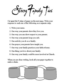 Strong Family Ties - paper chain
