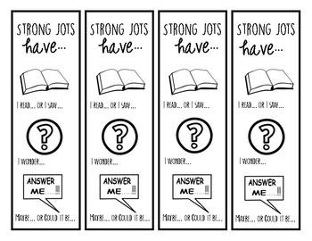Strong Jots Bookmark