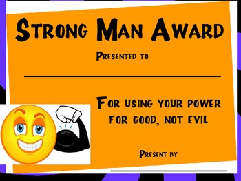 Strong Man Award