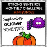 Strong Sentence Challenge (Fall Mini Bundle)