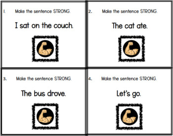 Strong Sentence Scoot Cards
