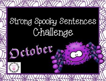 Strong Sentences Challenge October (Freebie)