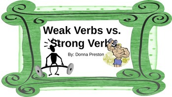 Strong Verbs Vs. Weak Verbs: Improve Your Writing