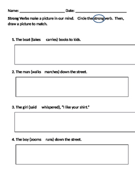 Strong Verbs Worksheet Worksheets for all | Download and Share ...