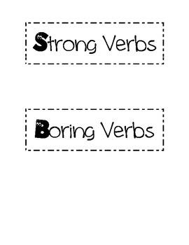 Strong Verse Boring Verbs