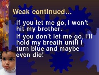 Strong Versus Weak Argument Powerpoint Presentation