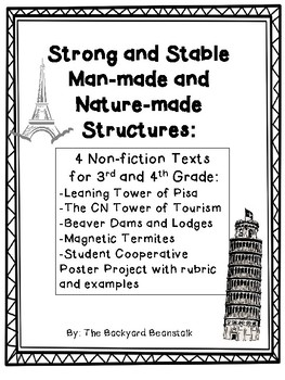 Strong and Stable Man-made and Nature-made Structures Non-fiction Texts Bundle