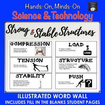 ontario science grade 3 strong and stable structures illustrated word wall. Black Bedroom Furniture Sets. Home Design Ideas