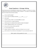 Stronger Writing Feedback Questions for Students to Ask