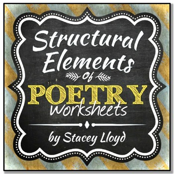 Structural Elements of Poetry Unit {Notes & Worksheets}