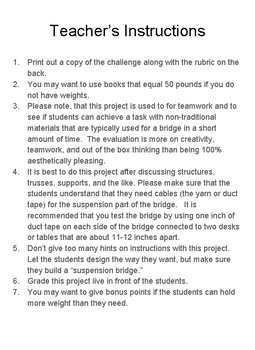 Structural Engineering: Suspension Bridge Challenge