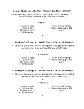 Structure Design Challenge *EDITABLE*