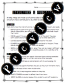 Structure & Function Worksheet