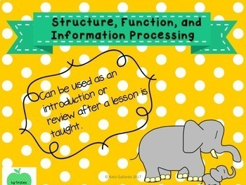 Structure, Function, and Information Processing (Animals Only)