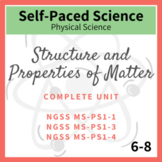 Structure & Properties of Matter Complete Unit  NGSS MS-PS1-1, PS1-3, PS1-4