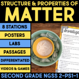 Structure & Properties of Matter BUNDLE - Second Grade Science Stations