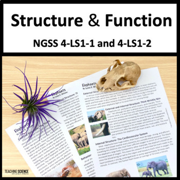 Structure and Function NGSS 4-LS1-1 and 4-LS1-2
