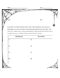 Structure and Function Worksheet - Magic School Bus