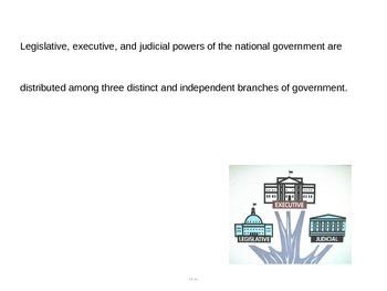 Structure and Powers of the U.S. Government PPT (CE.6a)