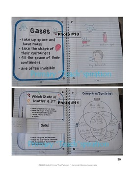 MATTER INTERACTIVE NOTEBOOK UNIT (Aligned with NGSS)