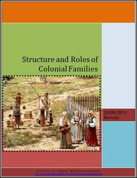 Structure and Roles of Colonial Families Lesson Plan
