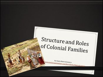 Structure and Roles of Colonial Families PowerPoint