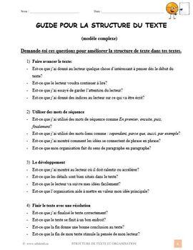Structure de texte et organisation, French Immersion (#206)