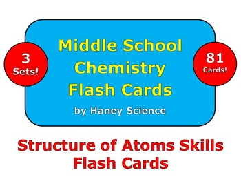 Structure of Atoms Skills Flash Cards