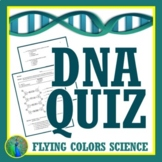 Structure of DNA Quiz Middle School NGSS MS-LS3-1