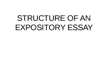 STRUCTURE OF EXPOSITORY WRITING