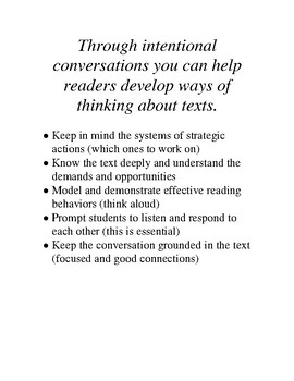 Structure of Interactive Read Aloud and Intentional Conversations