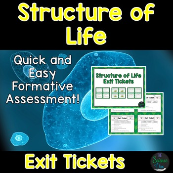 Structure of Life Exit Tickets (Exit Slips)