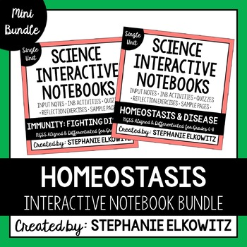 Homeostasis, Immunity and Disease Interactive Notebook Unit