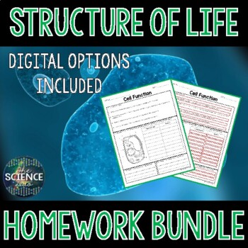 Structure of Life Homework