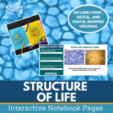 Structure of Life Interactive Notebook Pages - Print and Digital Versions