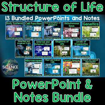 Structure of Life PowerPoint and Notes Bundle