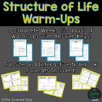 Structure of Life Warm-Ups (Bell Ringers)
