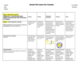 Periodic table bell ringer teaching resources teachers pay teachers structure of matter the periodic table weekly lesson plans 1 urtaz Image collections