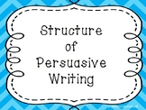 Structure of Persuasive Text Writer's Workshop Mini lesson