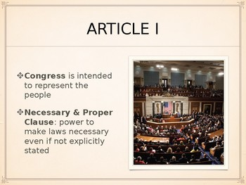 Structure of US Constitution PowerPoint