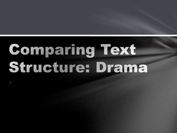 Structure of a Drama