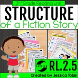 Story Structure 2nd Grade RL2.5- with Digital Distance Lea