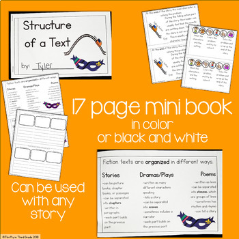 Structure of a Text Interactive Mini Book {RL.3.5}