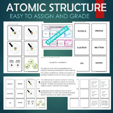 Structure of the Atom (Ion, Isotope, Nucleus, Proton, etc) Sort & Match Activity