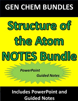 Structure of the Atom NOTES ONLY Bundle
