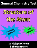 Structure of the Atom TEST (for General Chemistry)