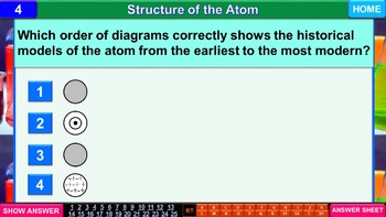Structure of the Atom: iPractice (Interactive PPT Worksheet for Test Prep)