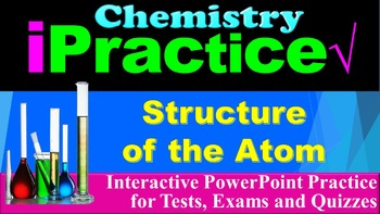 Structure of the Atom: iPractice - Interactive PPT Worksheet (FREE)